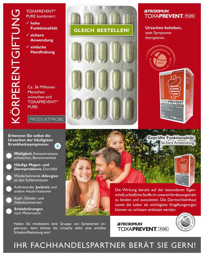 Probierpackung TOXAPREVENT® PURE Kapseln - 20 Kapseln zum probieren!