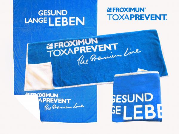 """FROXIMUN® Badetuch """"Lange Gesund Leben"""""""